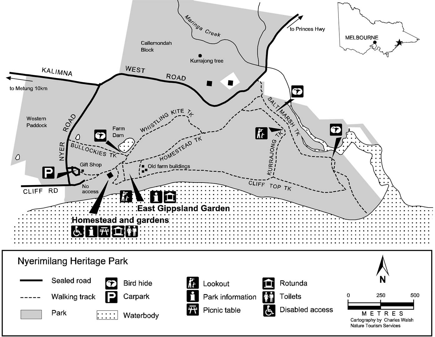 Map of Nyerimilang Heritage Park
